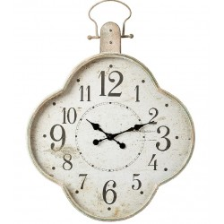 Duży Zegar Metalowy Przecierany