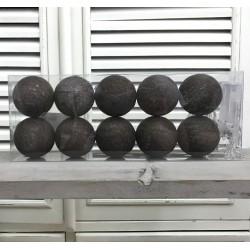 Kule Świecące Cotton Balls Brązowe