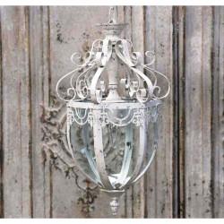 Lampa Prowansalska Metalowa Chic Antique Przeszklona