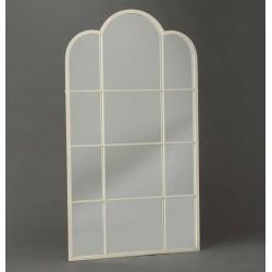 Duże Lustro Okno Białe