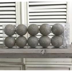Kule Świecące Cotton Balls Miętowo-Białe
