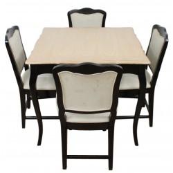 Czarny Stół Prowansalski Z Krzesłami Nero A