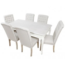 Stół z Krzesłami w Stylu Prowanalskim Colli