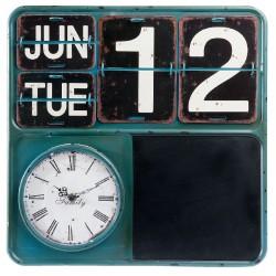 Zegar Retro Z Kalendarzem