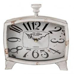 Zegarek Stojący Postarzany Biały
