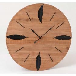 Duży Zegar Drewniany A