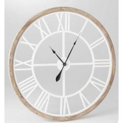 Zegar w Drewnianej Ramie Duży