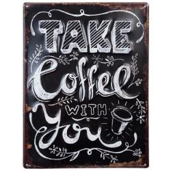 Obraz Metalowy Coffe