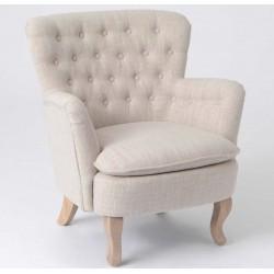 Fotel w Stylu Prowansalskim Pikowany