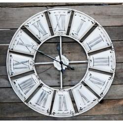 Duży Zegar Chic Antique Metalowy