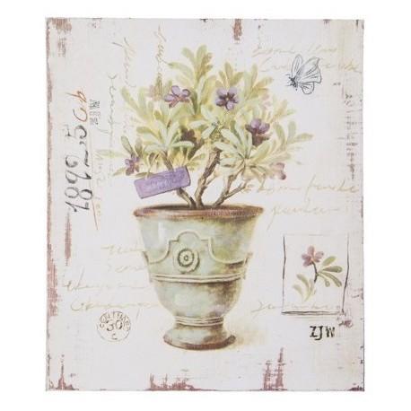 prostokatny obraz z motywem kwiatowym
