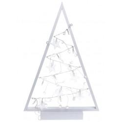 Zawieszka Śnieżynka Świecąca Drewniana LED