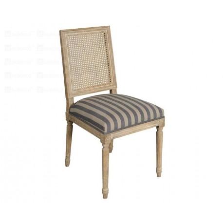 Krzesło marki Belldeco z kwadratowym oparciem