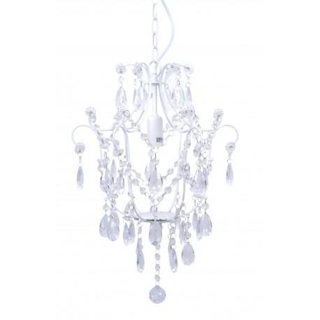 Żyrandol Prowansalski z Kryształkami Biały 1