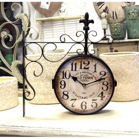zegar dworcowy z lilijką