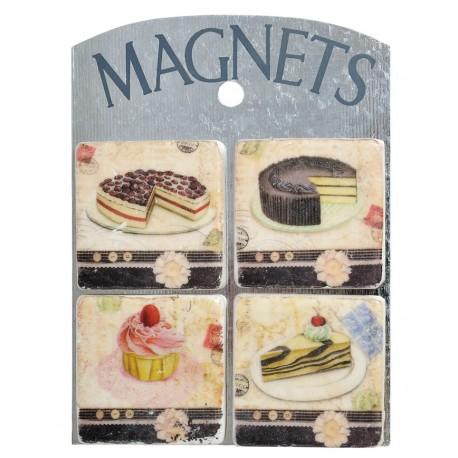 Kwadratowe magnesy na lodówkę z ciastkami