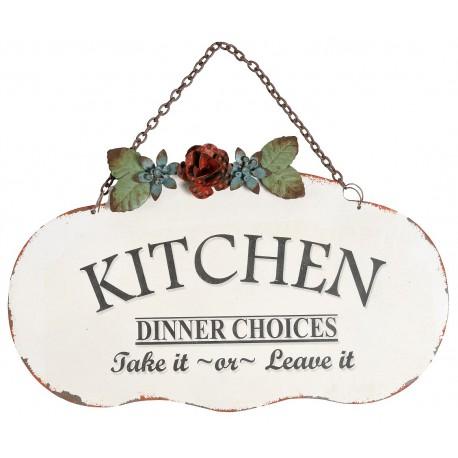 jasna zawieszka z ciemnym napisem Kitchen