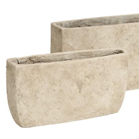 Cementowa podłużna donica
