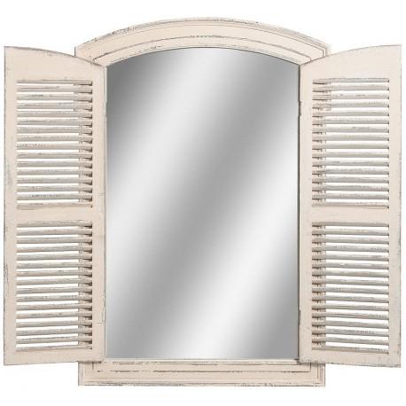 lustro z otwieranymi drzwiczkami w formie francuskie okiennicy