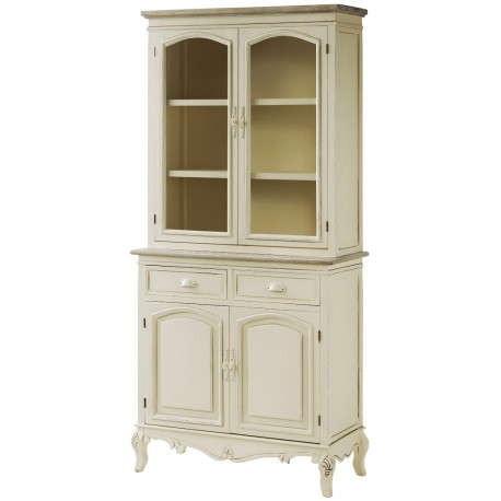 Kredens Rimini w stylu francuskim z szufladami i półkami