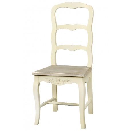 beżowe krzesło w stylu francuskim