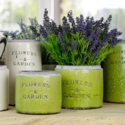 Zielone Osłonki na Donice Flowers Garden B