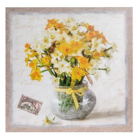 Obrazek w stylu prowansalskim z żonkilami