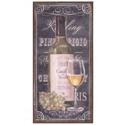 Vintage Obraz Belldeco Wino Białe
