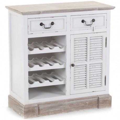 Komoda Palida Aluro doskonała do przechowywania winnej kolekcji, oraz kuchennych przyborów.