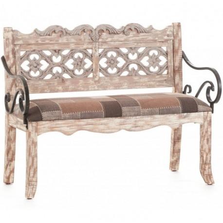 Prowansalska sofa z miękkim siedziskiem