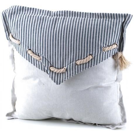 Ozdobna poduszka marki Aluro z dekoracyjnym sznureczkiem