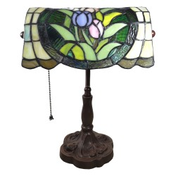 Lampa Biurkowa Witrażowa Tiffany E