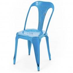 Krzesło Loft Metalowe Niebieskie
