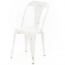 Krzesło Loft Metalowe Białe