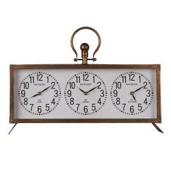 Zegar Biurkowy Potrójny Loft Clayre & Eef