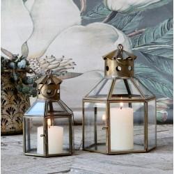 Lampion Latarnia Chic Antique Duży Szary C