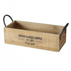 Drewniany Pojemnik Loft z Napisami Podłużny A