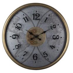 Duży Zegar Vintage z Mapą A