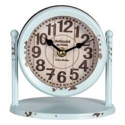 Zegar Stołowy Retro Błękitny Clayre & Eef