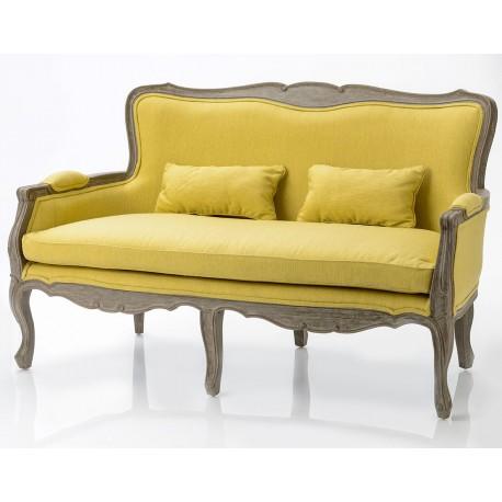Welurowa Sofa Brudny Róż