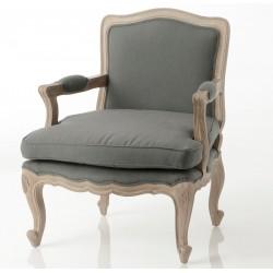 Fotel w Stylu Prowansalskim Szary Aneli