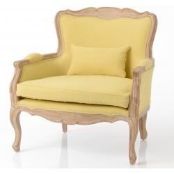 Fotel w Stylu Francuskim Żółty Lorani