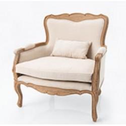 Fotel w Stylu Francuskim Jasnobeżowy Lorani