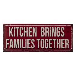 Metalowa Tabliczka Vintage Kitchen Rules