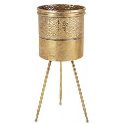 Złoty Kwietnik Metalowy C
