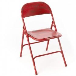 Krzesło Loft Metalowe Czerwone B