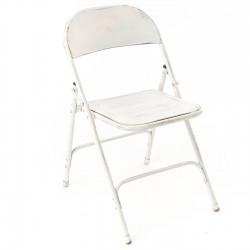 Krzesło Loft Metalowe Białe B