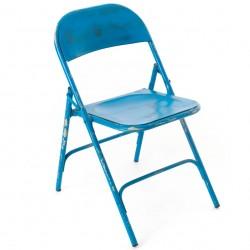 Krzesło Loft Metalowe Niebieskie B