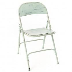 Krzesło Loft Metalowe Zielone B