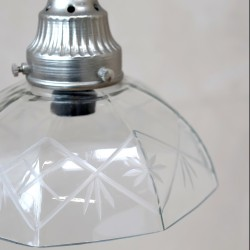 Szklana Lampa Listki USZKODZONA